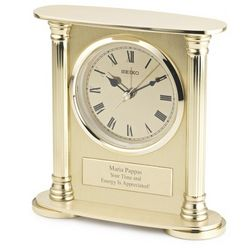 Seiko Brass Desk Clock