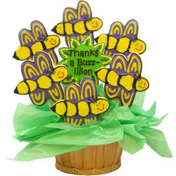 Personalized Thanks a Buzz-illion Sugar Cookie Bee Bouquet