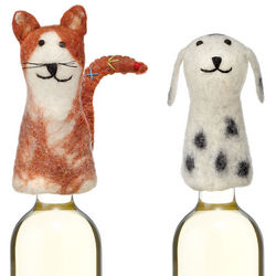 Cat Or Dog Felt Bottle Topper