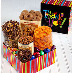 Thank You Popcorn and Snacks Gift Box