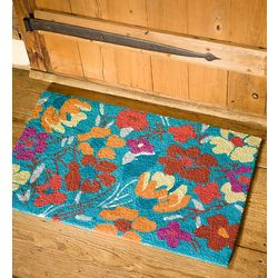 Blue Floral Accent Rug