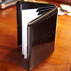 Personalized Gunmetal Business Card Holder