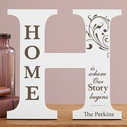 Letter H Personalized Home Decor