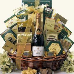 Gourmet Sophisticate Bouvet Brut Sparkling Wine Gift Basket