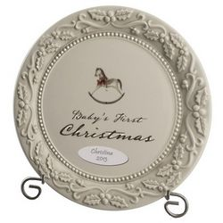 Baby's First Christmas Personalized Keepsake Plate