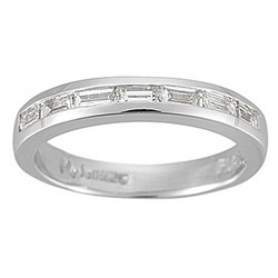 5/8 Ct Baguette Diamond Wedding Band in Platinum