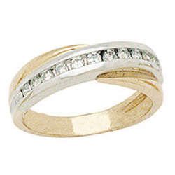 Two-tone Diamond Channel Men's Ring