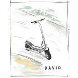 Silver Scooter Watercolor Fine Art Print