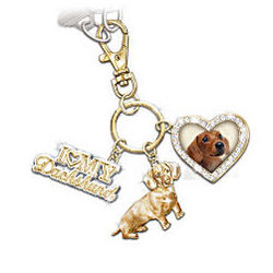 I Love My Dog Key Chain