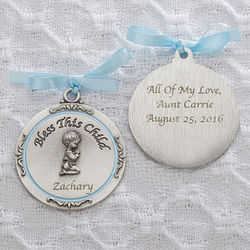 Bless This Boy Personalized Crib Medallion
