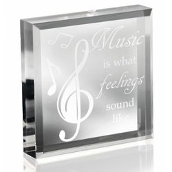 Feeling the Music Paperweight