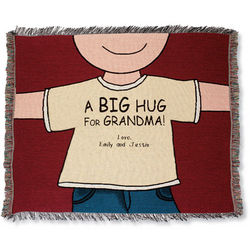 Personalized Big Hug for Grandma Throw