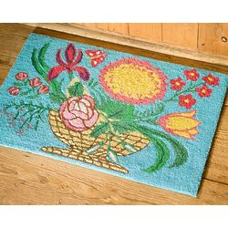 Flower Basket Accent Rug