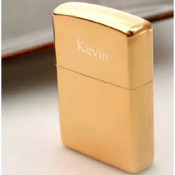 Zippo with Gold Tone Finish