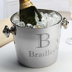 Personalized Stainless Steel Champagne Cooler