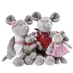 Merry Mouse Plush Family