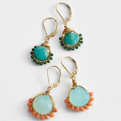 14 Karat Gold-Filled Gemstone Earrings