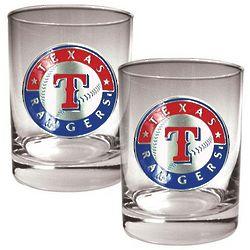 Texas Rangers Rocks Glasses