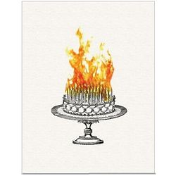 Inferno Cake Birthday Card