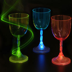Light-Up Wine Glasses