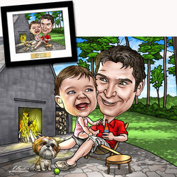 Father's Day Fully Custom Caricature