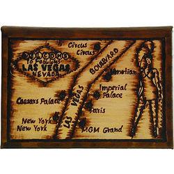 Las Vegas Map Leather Photo Album in Natural