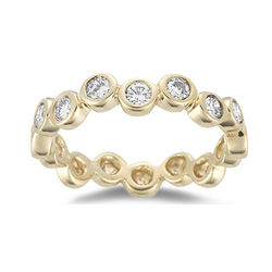 0.56 Ct Diamond Stack Band Ring in 14K Gold