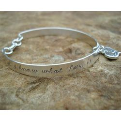 """If I Know What Love Is"" Hand Stamped Sterling Bracelet"