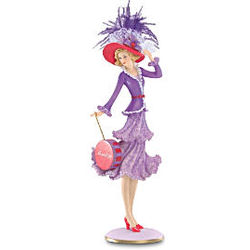 Monday's Hat Has Frills of Lace Figurine