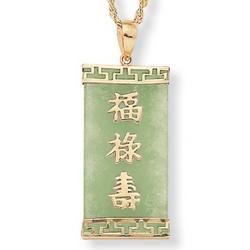 Jade 14k Pendant
