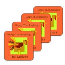 Thanksgiving Turkey Coasters