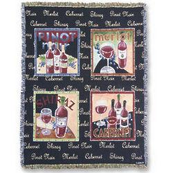 Wine Tapestry Throw