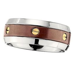 Men's Chocolate Plated Titanium Promise Ring