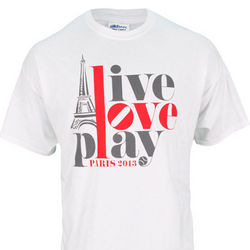 Live Love Play Paris France Tennis T-Shirt