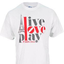 Live Love Play Paris France Tennis T-Shirt