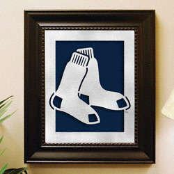 Boston Red Sox Laser Cut Logo Wall Art