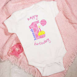 Baby Girl's 1st Birthday Infant Creeper