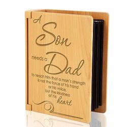 A Son Needs a Dad Wooden Album