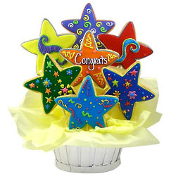 Congrats Star Sugar Cookie Basket