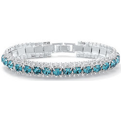 Crystal Accent Birthstone Tennis Bracelet