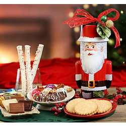 Godiva and Ghirardelli Chocolate Santa