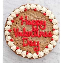 Happy Valentines Day Chocolate Chip Party Cookie