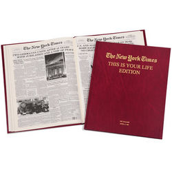 The New York Times of Your Birthdays Ages 20 to 29 Book