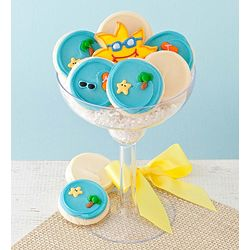 Buttercream On The Beach Cookies in Margarita Glass