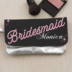 Personalized Wristlet for Wedding Bridal Party