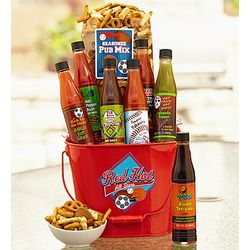 Sports Fever Hot Sauce Gift Basket