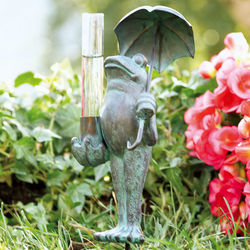 Noble Frog Rain Gauge with Umbrella