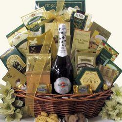 Gourmet Sophisticate Martini & Rossi Sparkling Wine Gift Basket