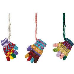 Peruvian Knit Gloves Ornaments