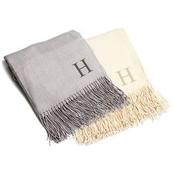 Personalized Fringe End Throw Blanket